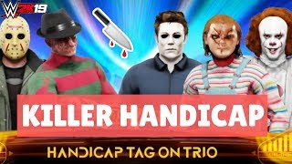 WWE2K19 KILLER HANDICAP MATCH (JASON & FREDDY VS. CHUCKY & MICHAEL MYERS & PENNYWISE) | WavyFries