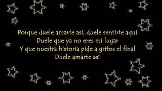 Matisse - Duele Amarte Así (Acústico) ft. Pedro Capó (Letra)