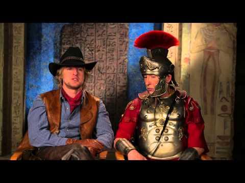 "Night at the Museum: Secret of the Tomb: Owen Wilson & Steve Coogan ""Octavius"" On Set Interview"