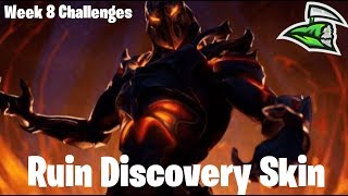 🔵 Fortnite week 8 challenges and Ruin discovery skin!!