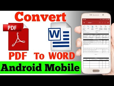How To Convert PDF To WORD In Android Mobile | Pdf To Word Convert