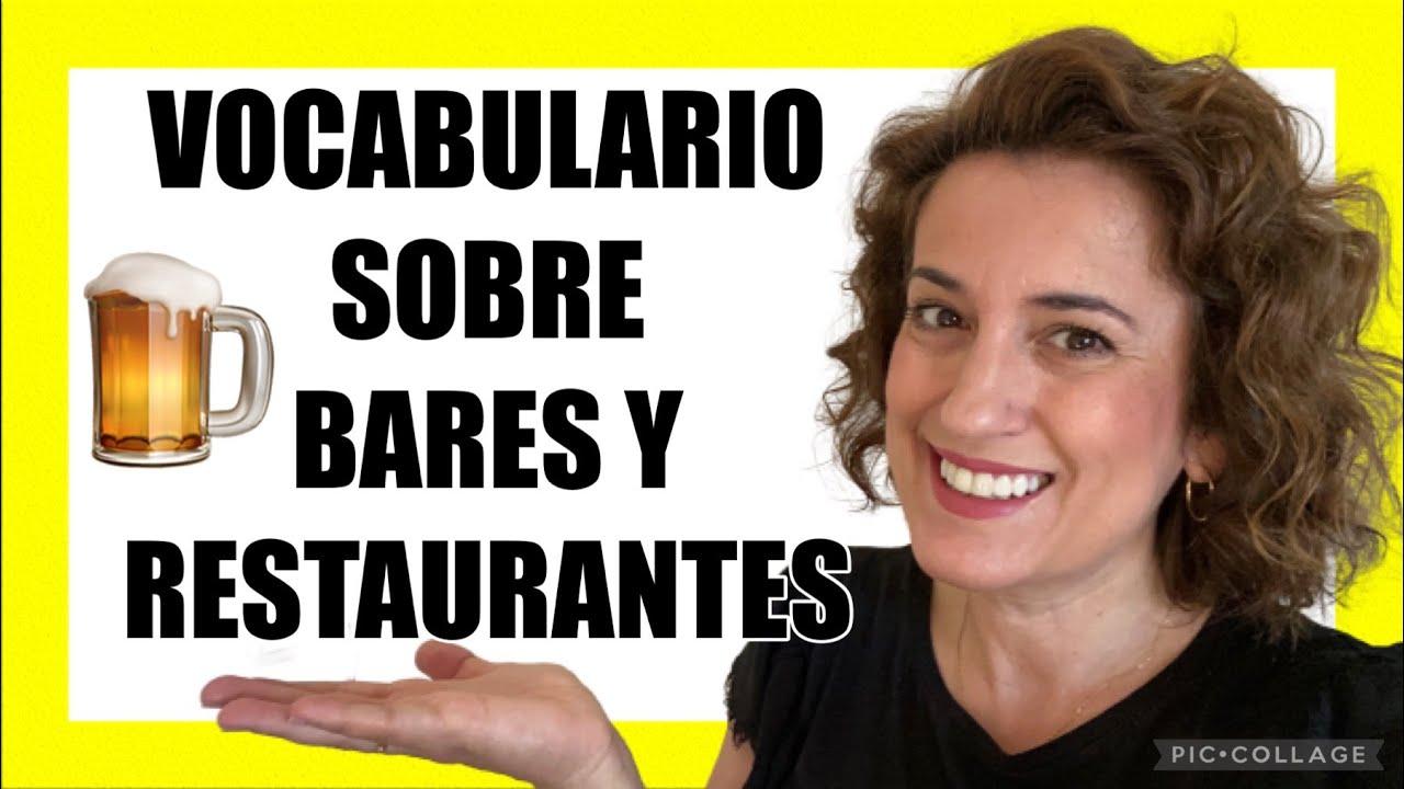 😱 ¿NO te GUSTA este VOCABULARIO sobre la HOSTELERíA en español? 🇪🇸Aprender español para TRABAJAR.