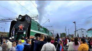Ретро-поезд времён Великой Отечественной Войны в Коноше  05-09-2020г.