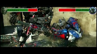 Lockdown vs Optimus Prime with health bars (Transformers 4)