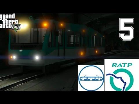 GTA 5 - CONDUIRE UN METRO/TRAMWAY RATP - PRENDRE DES PASSAGERS - BOULOT JOB #5
