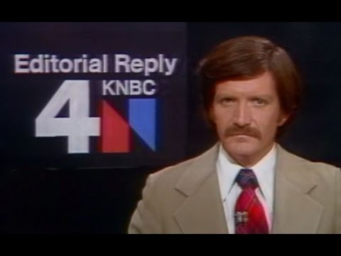 KNBC Channel 4 - Ending of NewsCenter4 with Paul Moyer & Kelly Lange and Editorial Reply (1977)