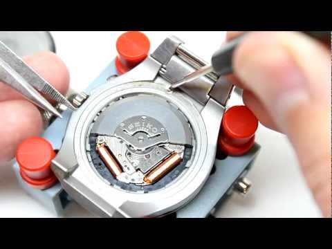 how to change the time on a lithium watch