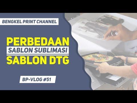 Perbedaan Sablon Sublimasi & Printer DTG | Bengkel Print VLOG #51