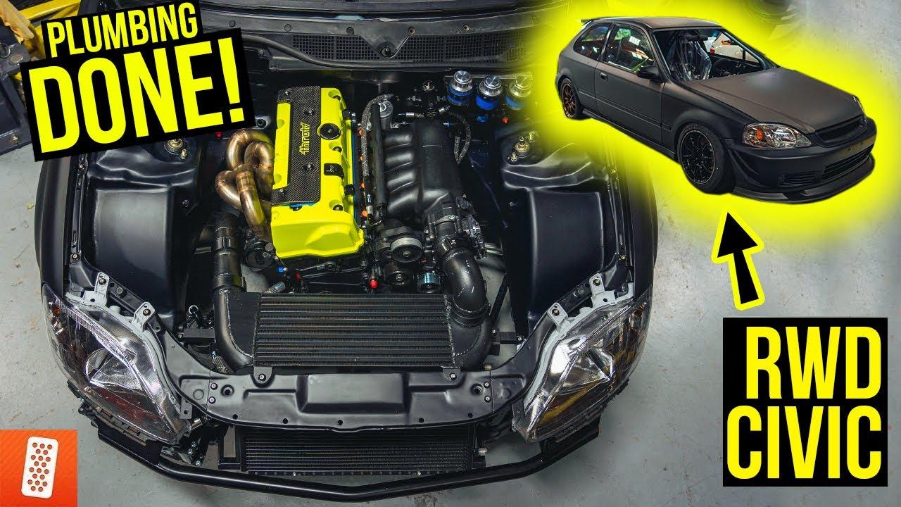 Building a Rear Wheel Drive, K20 Turbocharged Honda Civic EK Hatchback Race Car- Reassembly Part 5