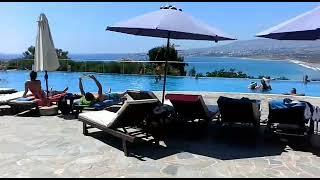 Обзор территории отеля Theo sunset bay holiday village Кипр Пафос отдых море пафос