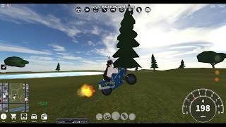 Having fun with the motorcycle, and doing stunts! | Roblox