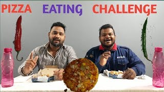 RAW MATERIAL WITH PIZZA EATING CHALLENGE/FOOD EATING COMPETITIONS/FOOD EATING CHALLENGE