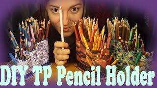 Toilet Paper Roll Pencil Holder Prismacolor DIY Tutorial KristenACajkaArt