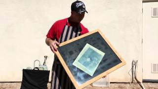 Exposing and washing they cyanotype print
