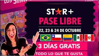 😮 STAR+ GRATIS 💥con acceso ilimitado a TODO EL CONTENIDO un Pase Libre por 3 DÍAS / Star Plus