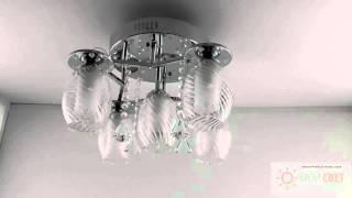 Светодиодная люстра с пультом на пять ламп(Новое слово в освещении. Компактно, ярко и неожиданно. Гарантия 1 год на все. Отличные цены. Купите люстру..., 2015-11-18T20:40:07.000Z)