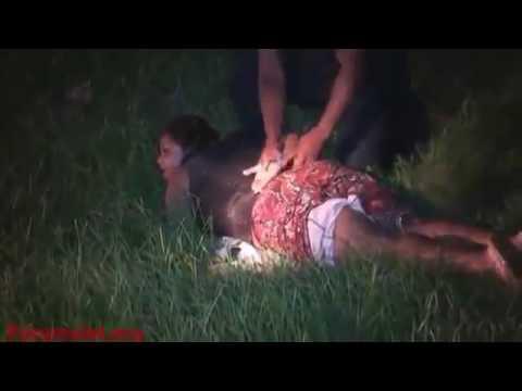 THE POLICE USA USE  ELECTRIC GUN VS NEGRO WOMAN