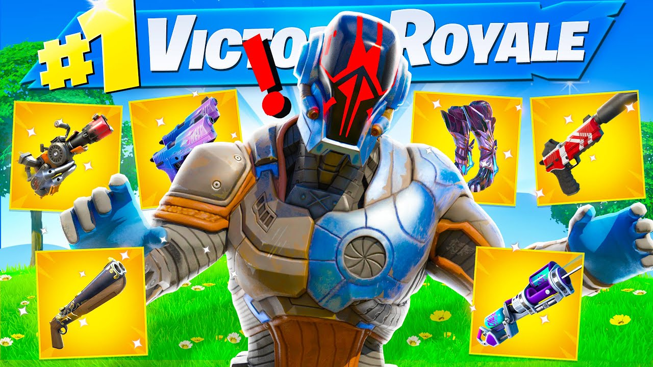 I Got All 6 BOSS MYTHIC ITEMS & EXOTICS in ONE GAME of Fortnite (Spire, Jonesy, Power, Burnout, Orb)