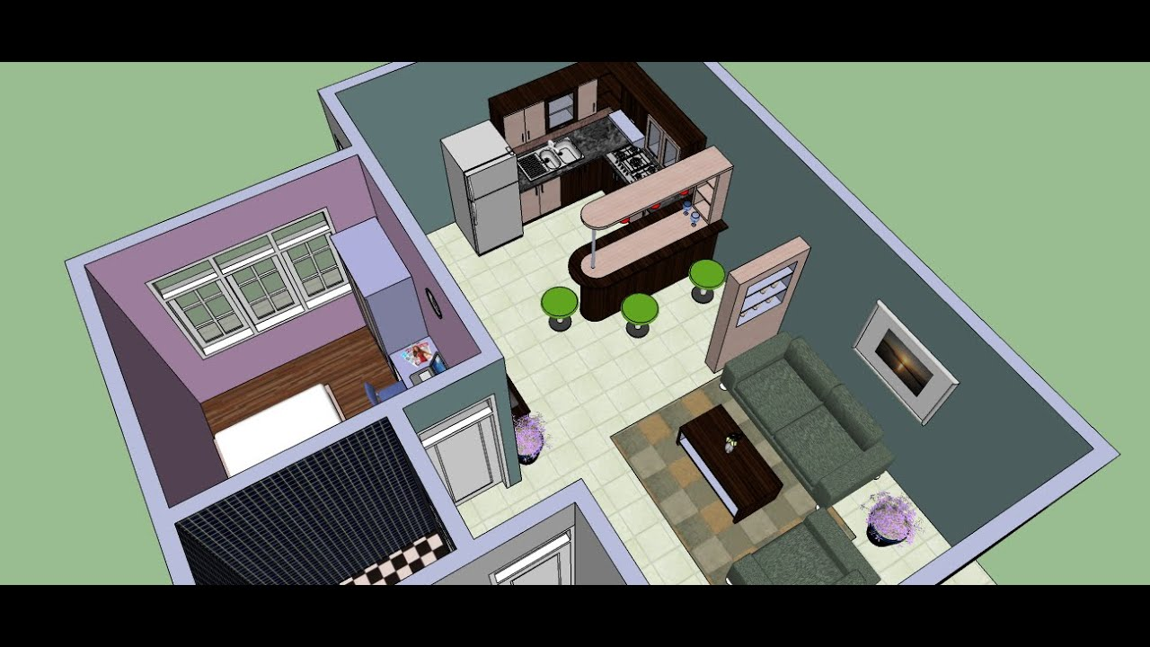 make an interior design with google sketchup youtube