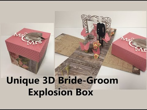 DIY Unique Wedding | Anniversary Explosion Box | Handmade