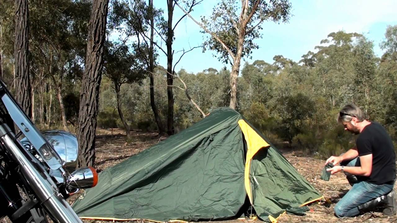 Motorcycle Camping Tent - YouTube