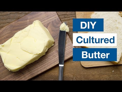 Culturing butter at home to enjoy with sourdough made with freshly milled wheat