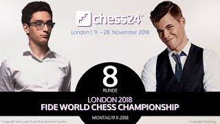 Analyse der 8. Partie – Schach-WM 2018 – Caruana - Carlsen