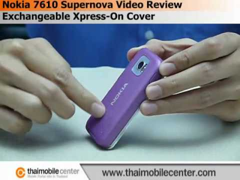 Nokia 7610 Supernova Video Review