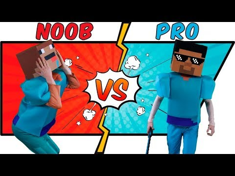 MINECRAFT IN REAL LIFE -  NOOB VS PRO | BATTLE [MIRL]