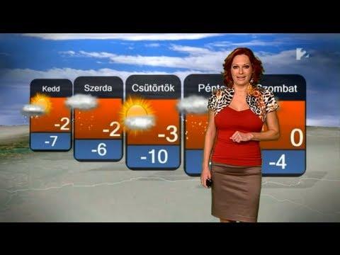 Gaál Noémi HD 2012 12 10 Este Időjárás - Sexy Hungarian Weather Forecast Girl thumbnail