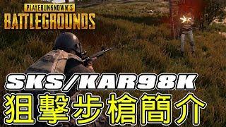 《 絕地求生 》Ep.5  Kar98k / SKS 狙擊步槍數據資料簡介