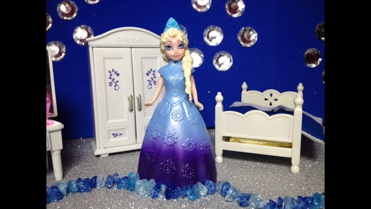 how to design a queen elsa bedroom toy demonstration - youtube