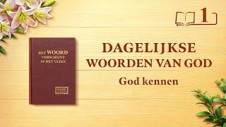 Dagelijkse woorden van God | God kennen is de weg naar het vrezen van God en het mijden van het kwaad | Fragment 1