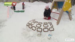 Ледяные скульптуры в детском саду