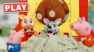 КукуPlay - Свинка Пеппа и Кинетический песок - Сказка Три Поросенка - Поиграйка с Пилотом Винтиком