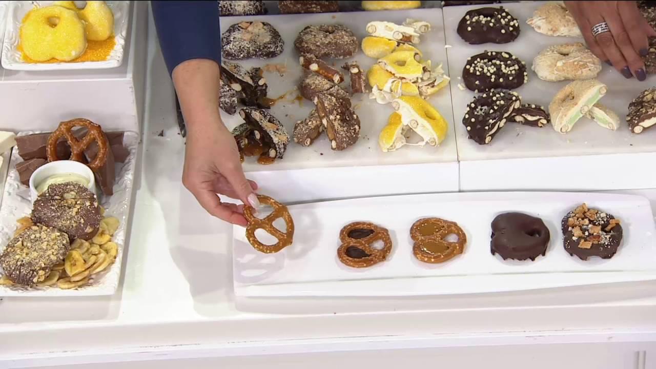 Landies Candies 18 Piece Blue Ribbon Pie Chocolate Pretzels On Qvc