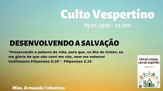 DESENVOLVENDO A SALVAÇÃO - Filipenses 2.12-18