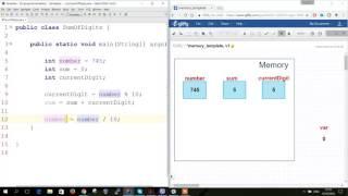 Переменные в Java - сумма цифр трехзначного числа