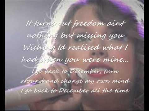 Back to december - Taylor swift lyrics
