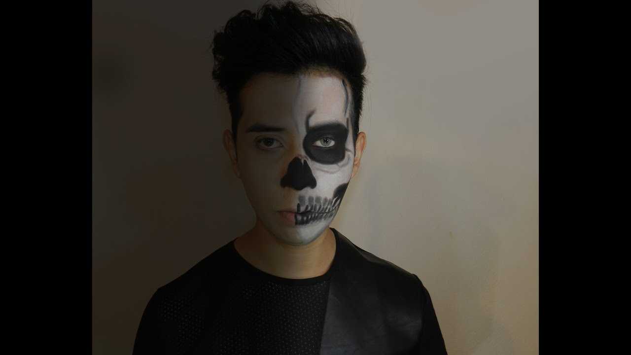 maquillaje para hombre halloween skeleton makeup tutorial