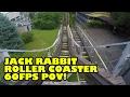 Jack Rabbit Wooden Roller Coaster Front Seat POV Kennywood Pennsylvania 60FPS