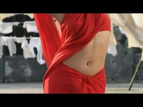 Hot Actress Red Saree Navel Piercing Compilation Song