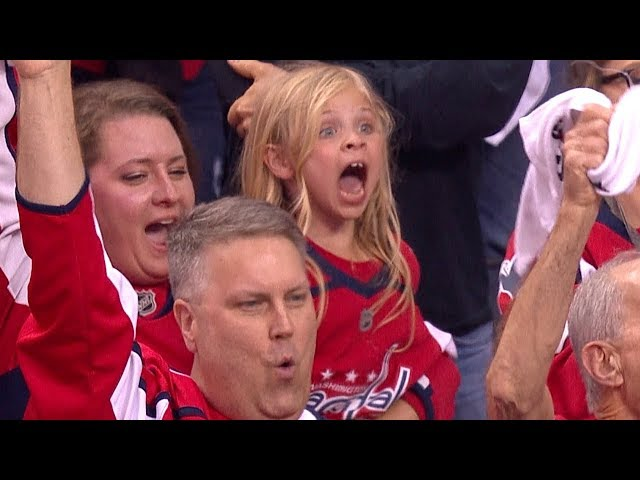 Keelan Moxley goes nuts for Brett Connolly's goal