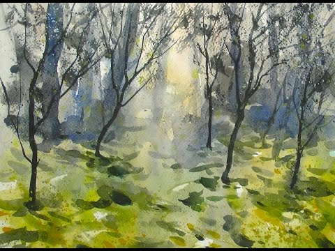 watercolor dream forest 20x speed painting demo youtube watercolor dream forest 20x speed