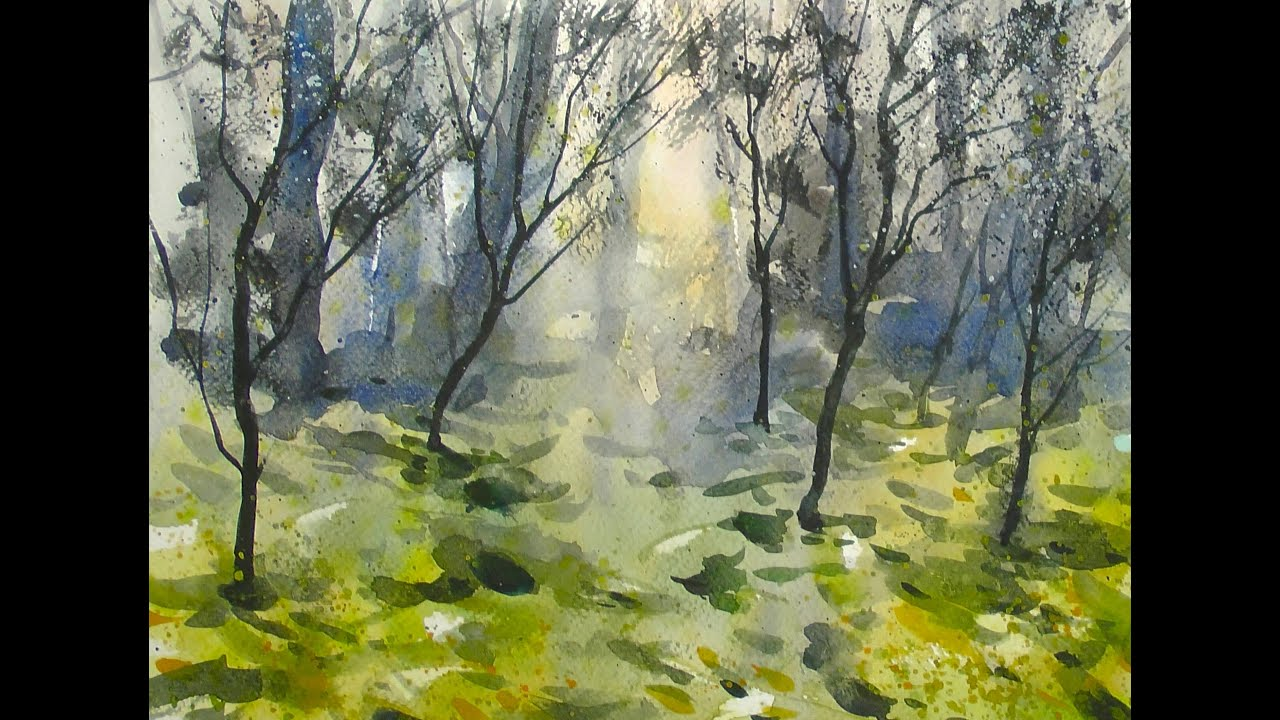 Watercolor dream forest 20x speed painting demo youtube - The hideout in the woods an artists dream ...