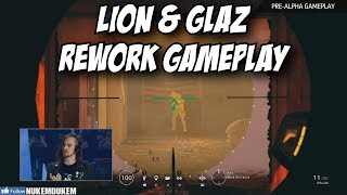 R6 Lion & Glaz Rework Gameplay New See Through Deployable Shield! Rainbow Six Siege