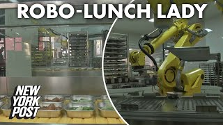 Robot lunch lady serves contactless school meals | New York Post