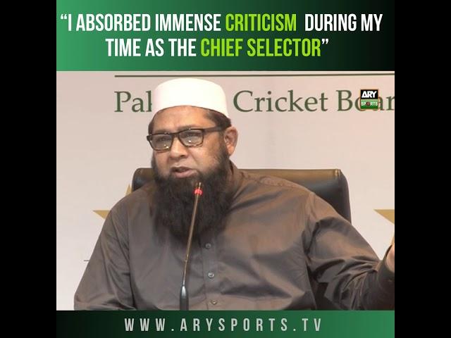 Inzamam-ul-Haq to step down as Pakistan team chief selector