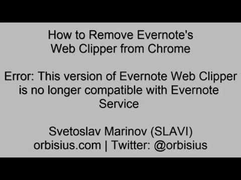 How to Remove Evernote's Web Clipper from Chrome - YouTube