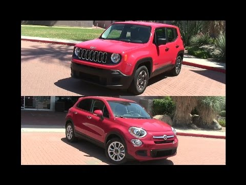 2015 Jeep Renegade vs 2015 Fiat 500X review